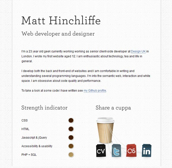 Matt Hinchliffe |  Web Developer