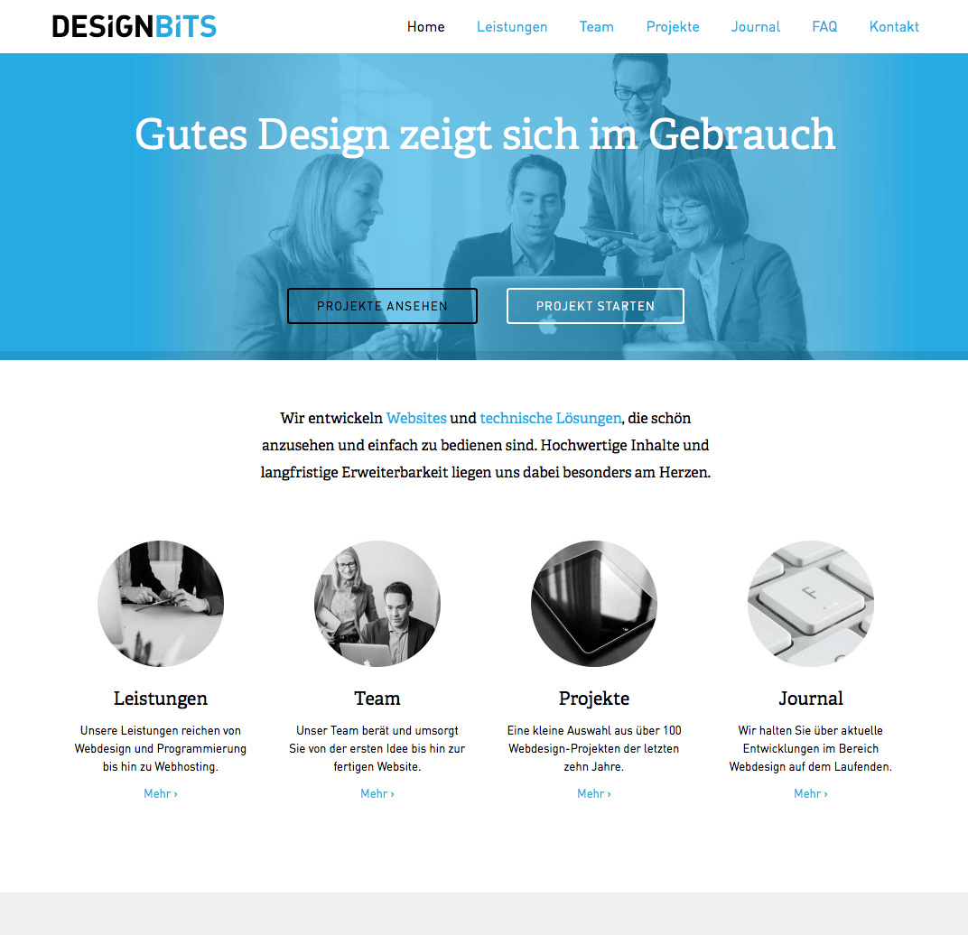 Designbits webdesign minimal exhibit for Minimalist web design