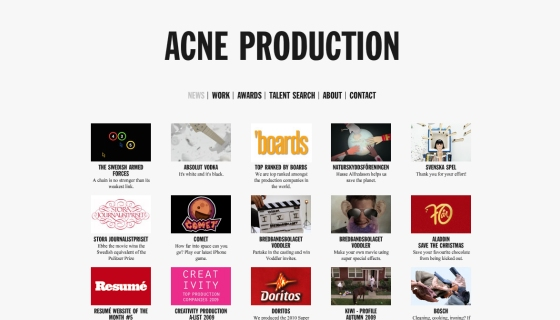 Acne Production