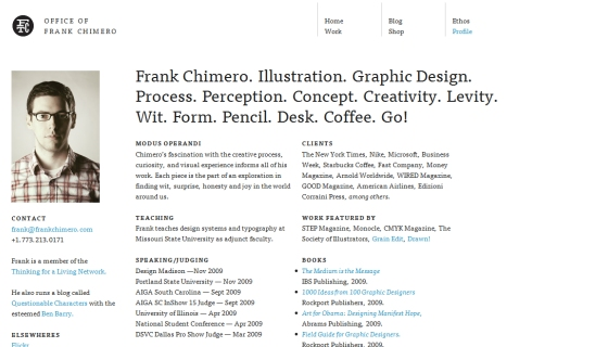 filed under graphic design frank chimero profile - Graphic Artist Profile