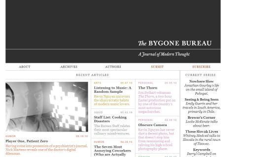 The Bygone Bureau
