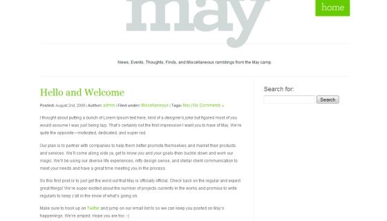 The May Blog