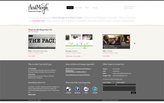 Acidmorph | Web Design