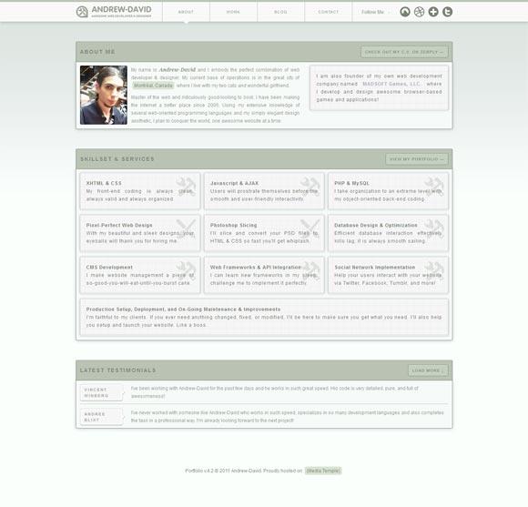 Andrew David   Web Design