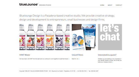 Bluelounge Design | Web Design