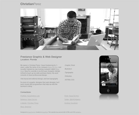 Christian Perez   Web Designer