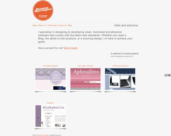 Damian Herrington | Web Design
