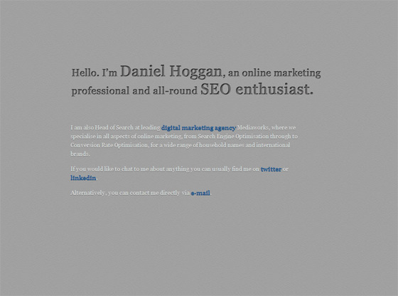 Daniel Hoggan   Web Designer
