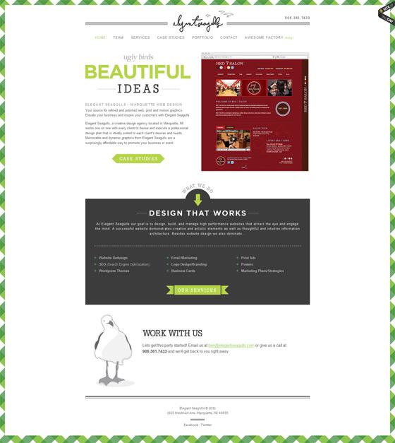 Elegant Seagulls | Web Design