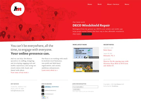Hot Meteor | Web Design
