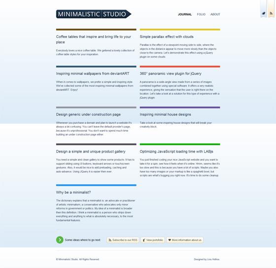 Minimalistic Studio | Web Design