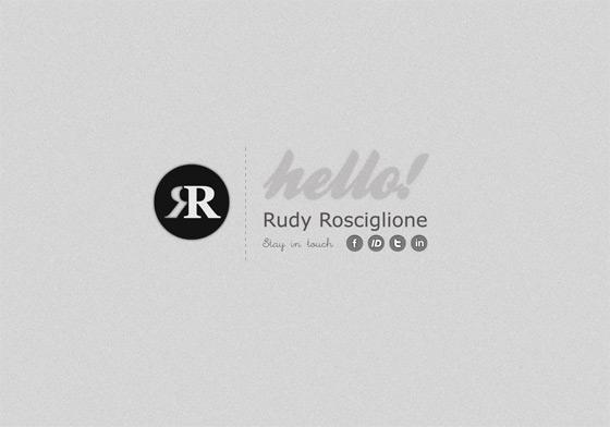 Rudy Rosciglione   Web Designer