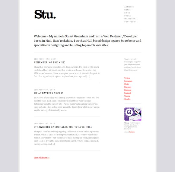 Stu Greenham | Web Design