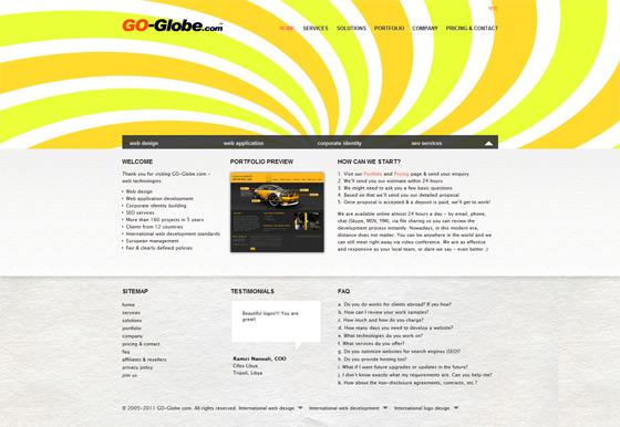 Go Globe | Web Design