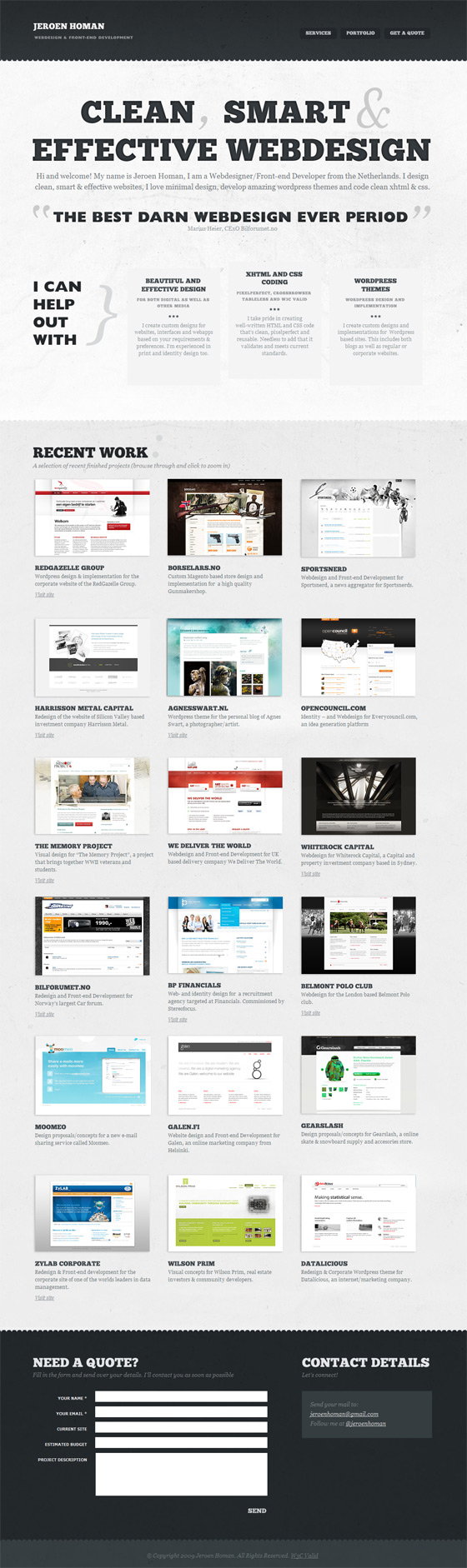 Jeroen Homan | Web Design